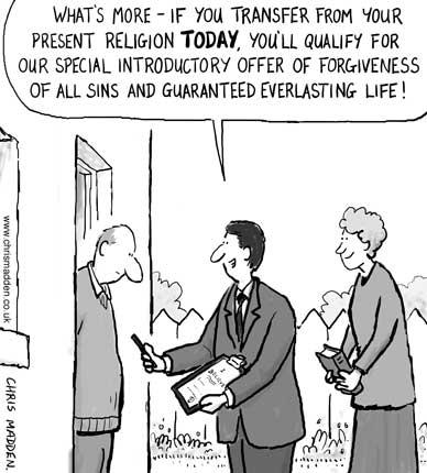 religion salesman